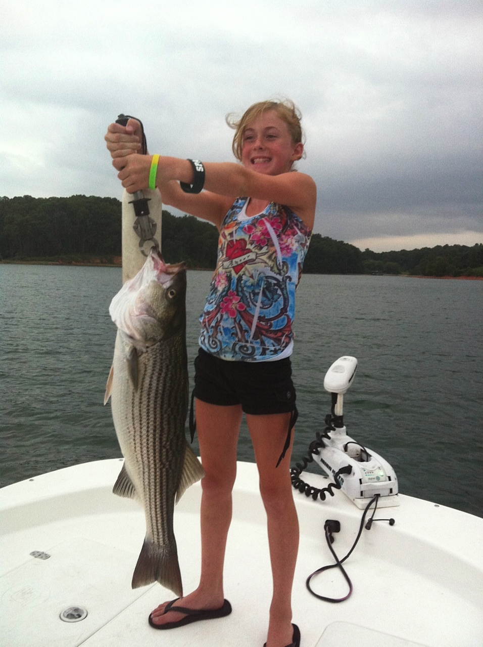 Madie Stocks and her 1st striper!